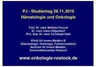 Gastrointestinale Blutungen - Hämatologie und Onkologie Rostock