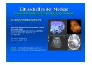 Klinische Anwendungen des Ultraschalls - Die Universität