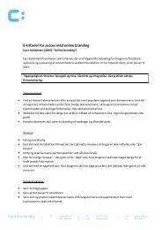 6 kriterier for succes med online branding - Kommunikation