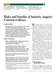 Risks and benefits of bariatric surgery: Current ... - Cleveland Clinic