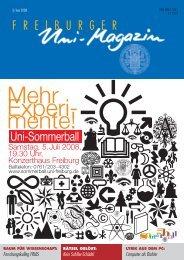 Uni-Magazin 3/2008 - FreiDok - Albert-Ludwigs-Universität Freiburg