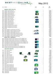 Download a price list - Bestmedonline