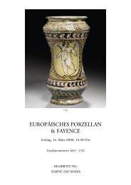 EUROPÄISCHES PORZELLAN & FAYENCE - Koller Auktionen