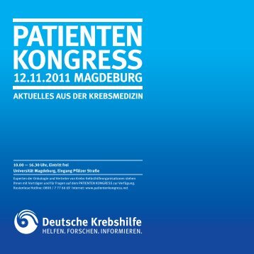 programm - Strahlentherapie Magdeburg
