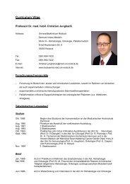 Curriculum Vitae - Leukämie und Experimentelle Transplantation ...
