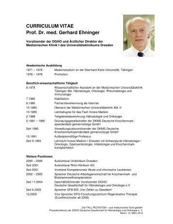 CURRICULUM VITAE Prof. Dr. med. Gerhard ... - Jens Weinreich