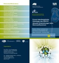 Forum Interdisziplinäre Onkologie des RHCCC Aktuelle ...