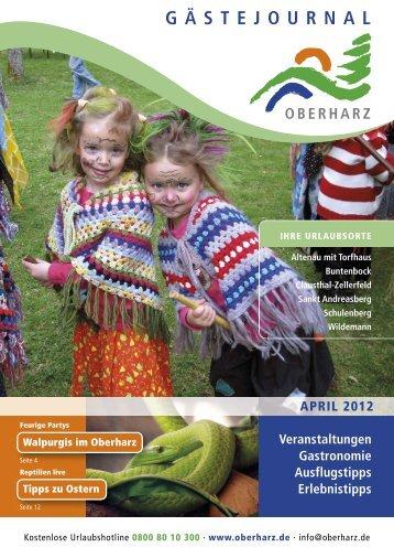 Gästejournal April 2012 (PDF) - Der Oberharz