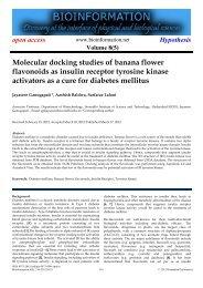 Molecular docking studies of banana flower ... - Bioinformation