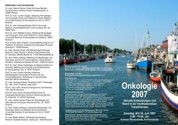 Kein Folientitel - Hämatologie und Onkologie Rostock