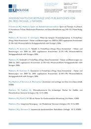 wissenschaftliche beiträge und publikationen von dr. med. michael