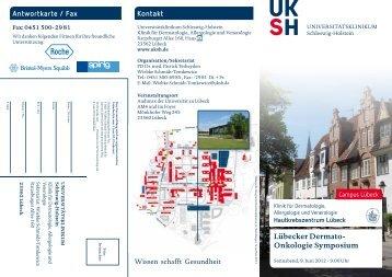 lübecker Dermato- Onkologie symposium Kontakt Antwortkarte / Fax