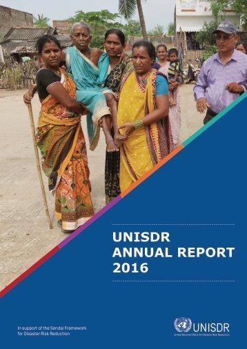 UNISDR ANNUAL REPORT 2016