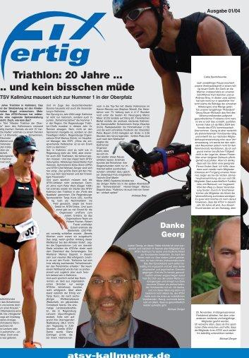 Triathlon: 20 Jahre ... ... und kein bisschen müde - ATSV Kallmünz