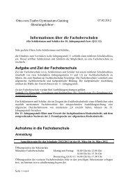 Informationen zur Fachoberschule - Otto-von-Taube-Gymnasium