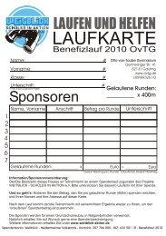LAUFKARTE - Otto-von-Taube-Gymnasium