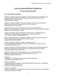 Liste der wissenschaftlichen Publikationen - Sana Krankenhaus ...