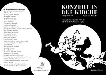 konzert in der kirche - Musikverein Weinfelden