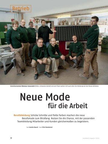 kBerufskleidung 2012 - Tischlerei Feinschliff