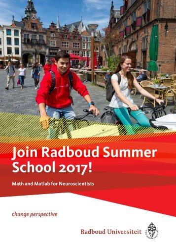 Join Radboud Summer School 2017!