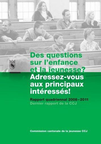 Rapport quadriennal 2008 - 2011 - Kanton Bern
