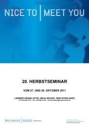 20. herbstseminar vom 27. und 28. oktober 2011 - TREUHAND ...