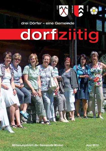 Dorfziitig Juni 2012 - Gemeinde Winkel
