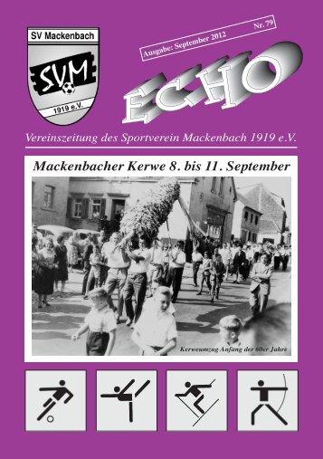 Mackenbacher Kerwe 8. bis 11. September - SV Mackenbach