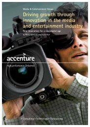 Driving growth through innovation in the media and entertainment ...