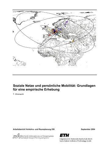 Soziale Netze und persönliche Mobilität: Grundlagen ... - ETH Zürich