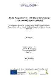 Studie: Kooperation in der ländlichen Entwicklung ... - RM Austria