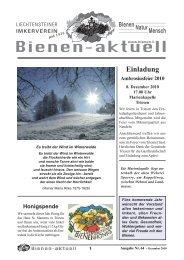 Bienen-aktuell Nr. 64 (Entwurf).indd - Liechtensteiner Imkerverein