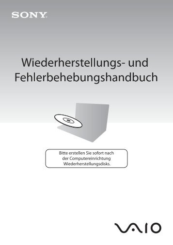 Sony VGN-FW5JTF - VGN-FW5JTF Guide de dépannage Allemand