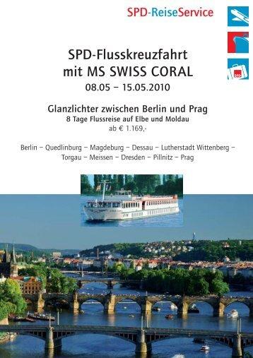 SPD-Flusskreuzfahrt mit MS SWISS CORAL - SPD-Reiseservice