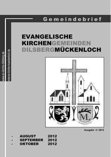 Gottesdienste Mückenloch - Evangelische Kirche Dilsberg
