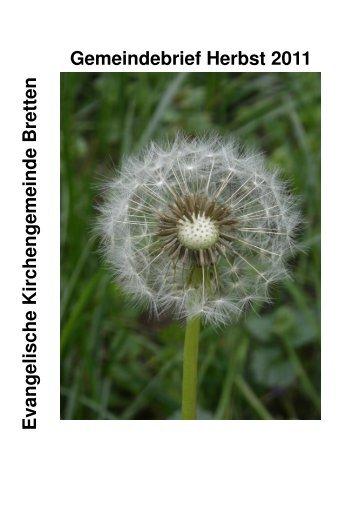 Gemeindebrief_Herbst_2011.pdf - Ev. Kirche Bretten
