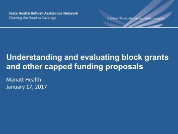 Understanding and evaluating block grants and other capped funding proposals