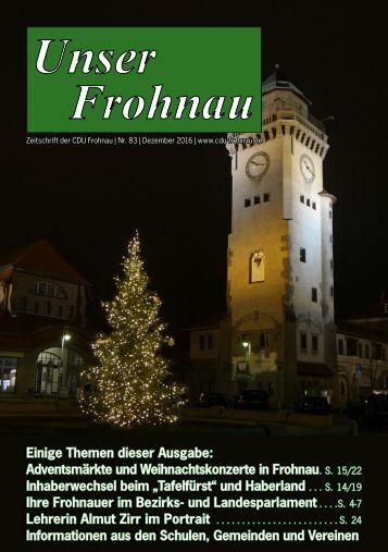 Unser Frohnau 83 (Dezember 2016)