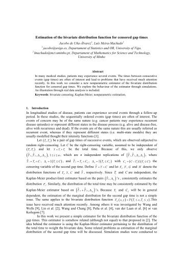 Estimation of the bivariate distribution function for censored gap ...