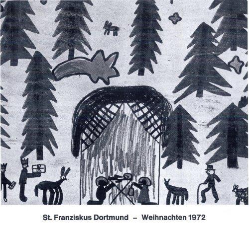 St. Franziskus Dortmund Weihnachten 1972 - St. Franziskus Kirche