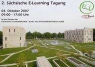 2. Sächsische E-Learning Tagung