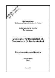 Arbeitsmaterial für die Berufsschule Elektroniker für Betriebstechnik ...