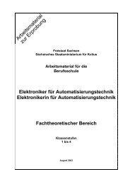 Arbeitsmaterial für die Berufsschule Elektroniker für ...