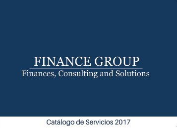 Brochure Finance Group
