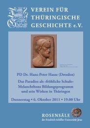 PD Dr. Hans-Peter Hasse - Verein für Thüringische Geschichte e.V.