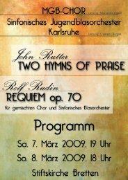 John Rutter, Nun danket alle Gott - Sinfonisches ...