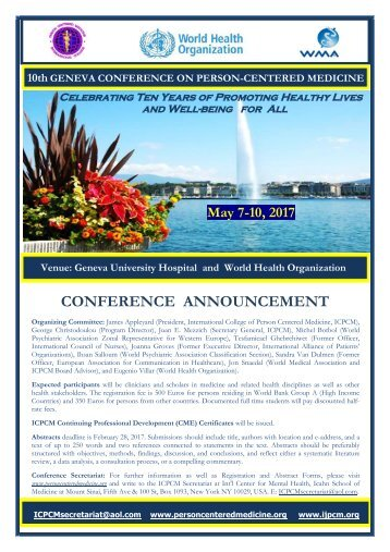 CONFERENCE ANNOUNCEMENT halfrate