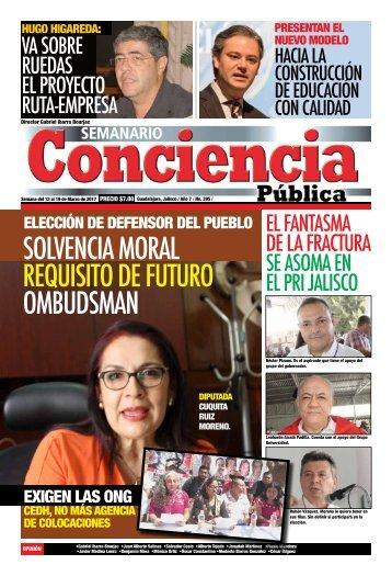 SOLVENCIA MORAL REQUISITO DE FUTURO OMBUDSMAN