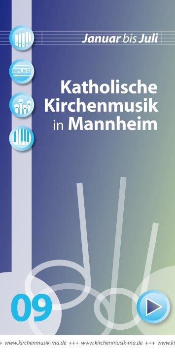 Mannheim Januarbis Juli - Kath. Bezirkskantorat