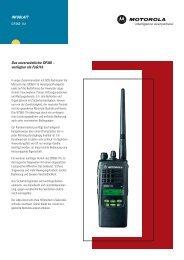 Infoblatt Motorola GP360-11b - Soeffing-Boesner GmbH